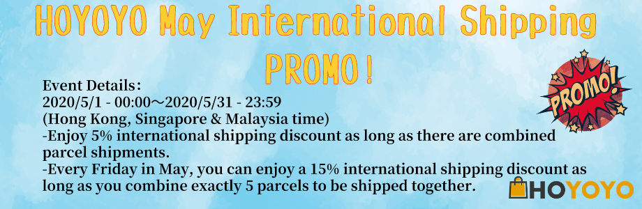 MAY2020 PROMO International Shipping Promo